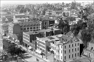 Poster, Many Sizes; Panoramic View Of Downtown Los Angeles, Looking South Betwee