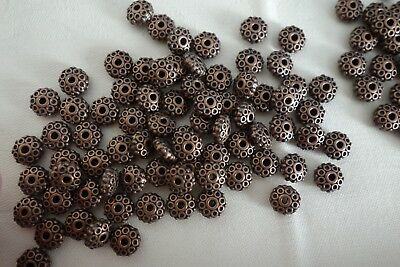 20 Antique Copper Coloured Spacer Beads 8mmx4mmx3mm #sp0117 Jewellery Making