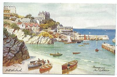 CORNWALL - NEWQUAY, The HARBOUR Artiist signed H. WIMBUSH Tuck Postcard