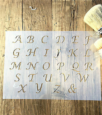 OLD ENGLISH LETTER Stencil Reusable For Painting Best