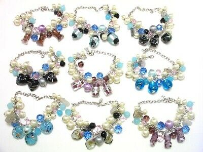 Wholesale Lot Of 50 Pieces Pcs Of New Murano Glass Fine Bracelets