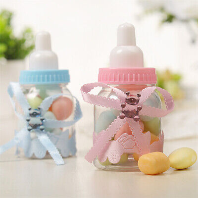 12* Fillable Bottles Candy Box Baby Shower Baptism Party Favour Christening DIY