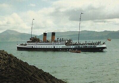 "MacBRAYNE STEAMER TSS ""King George V"" SAILING OBAN IONA STAFFA Clyde Steamer"