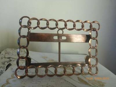 Antique Copper Wedding Ring Photo Frame Easle Stand
