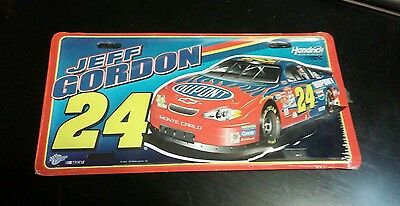 Jeff Gordon License Plate Metal 2002 #24 Dupont Flames Hendrick Motorsports NIP