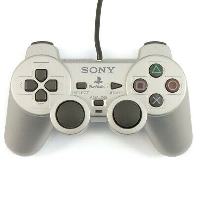 PS2 - Original Sony Dualshock 2 Controller / Pad SCPH-10010 #silber