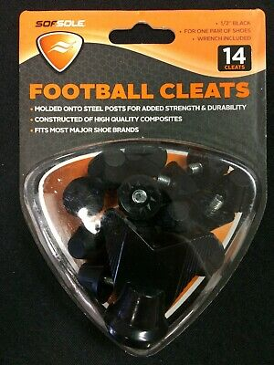 "Sof Sole Football Cleats 1//2/"" Plastic Tip Black Wrench Included 14 Cleats NEW"