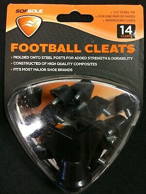 "NEW SOFSOLE Replacement FOOTBALL CLEATS 1//2/"" STEEL 14 Cleats 1 PAIR Of Shoes NWT"
