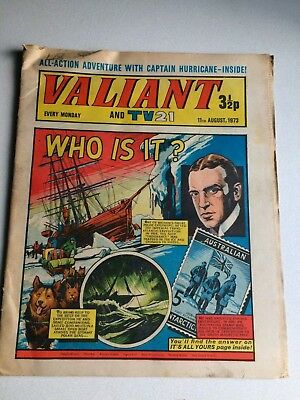 Valiant And Tv 21 Comic From 11Th August 1973.