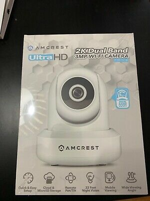 AMCREST 2-PACK IP3M-941W UltraHD 2K 3MP 90°WiFi Video