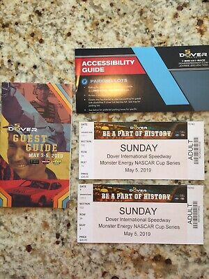 2 Adult Tickets 5/5/19 Dover Int'l Speedway Monster Energy NASCAR Cup Series