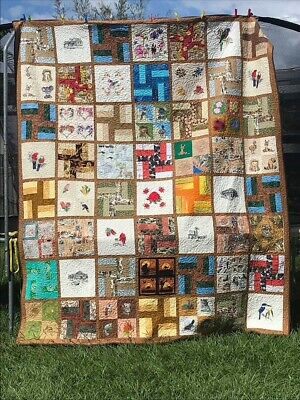 Brand new Handmade Patchwork Quilt, proceeds from sale  to Farmers Relief