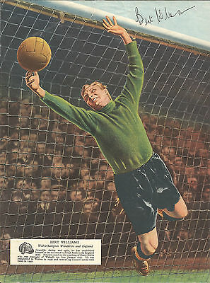 Hand Signed 8x10 BERT WILLIAMS MBE England & Wolves Football LEGEND Goalkeeper