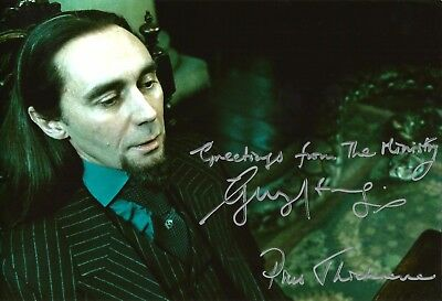 Hand Signed 8x12 colour photo GUY HENRY in HARRY POTTER + my COA
