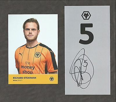 Hand Signed Number 5 RICHARD STEARMAN Wolves Wanderers Football Club
