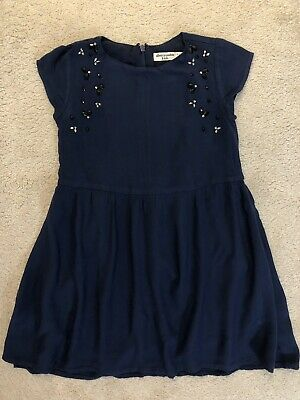 Abercrombie & Fitch Kids Girl's Navy Embellished Dress Age 7-8 Years