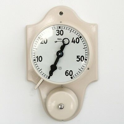 Antique GERMAN JUNGHANS TIMER Clock 60 Seconds Wall BOX / PAPERS New Old Stock!