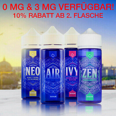 Sique Berlin Air Ivy Neo Zen Liquid Shake and Vape 100ml mit Nikotin 0mg/3mg