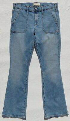 GAP Women's Light Blue Soft Stretch Denim Mid Rise BABY BOOT Jeans size 31 10 12