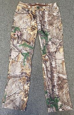 809486e0446f3 Under Armour Realtree Performance Field Pants Camouflage Quick Dry Womens 6  EUC