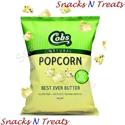 Cobs Best Ever Butter Popcorn 100g x 12 - BULK