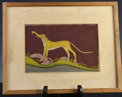 Rare Early Middle East Ottoman Transformation Bengal Tiger Elephant Painting