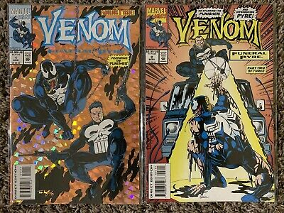 VENOM FUNERAL PYRE #1-2 1993 Marvel Comics With Punisher
