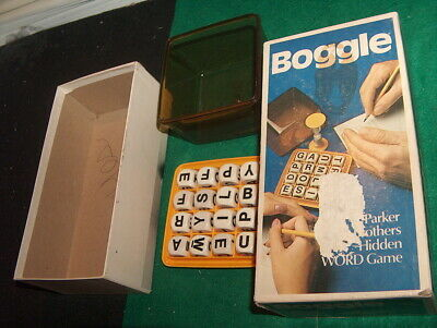 2005 Parker Brothers Boggle 3-Minute Word Game Complete in Box