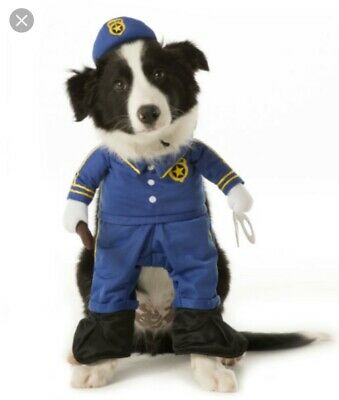 Dog Police/Cop Costume Complete with Handcuffs and Stick. Size Small