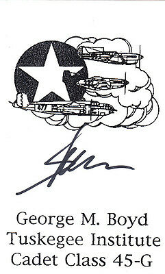 Tuskegee Airman WWII Col. G.Boyd 100 F.S, Vietnam TET Offensive SIGNED CARD AUTO