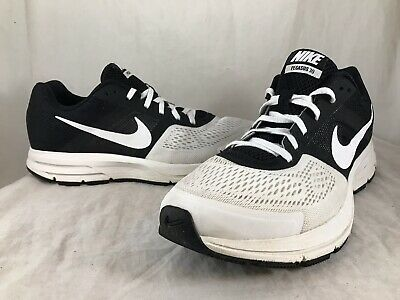 7880dcc43a9d0 Mens NIKE AIR ZOOM PEGASUS 30 White Black Running Shoes 599205-100 SIZE 11