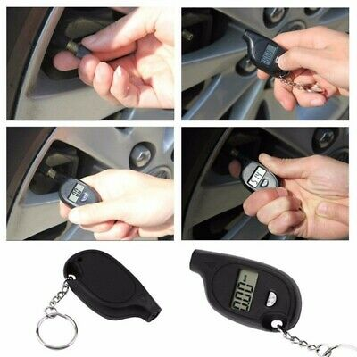 Auto Motorcycle Car Van Bike LCD Digital Tyre Air Pressure Gauge Tester Tools Uk
