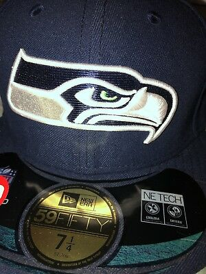 huge discount d9946 b2e46 NFL Seattle Seahawks Fitted Hat 7 1 4 New Era 59fifty Cap