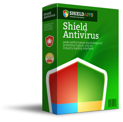 Shield Antivirus Computer,Internet and Mobile Protection 1 User-12 Month License