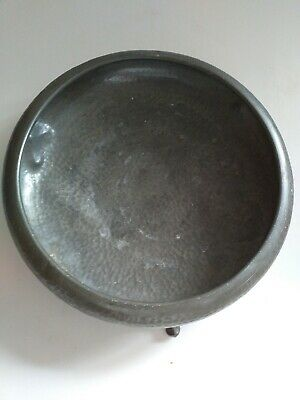 Craftsman Hammered Sheffield  Pewter, 3 footed bowl. Makers marks to base.