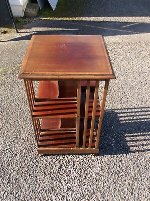 Edwardian Square Bookcase Dvd Storage Display Case Revolving Bookcase