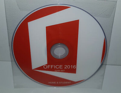 Dvd - Office 2016 Home & Student - 32/64 Bit Full - Spanish (Microsoft)