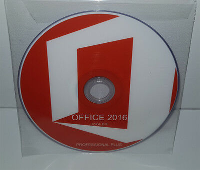 Dvd - Office 2016 Professional Plus - 32/64 Bit Full - English (Microsoft)