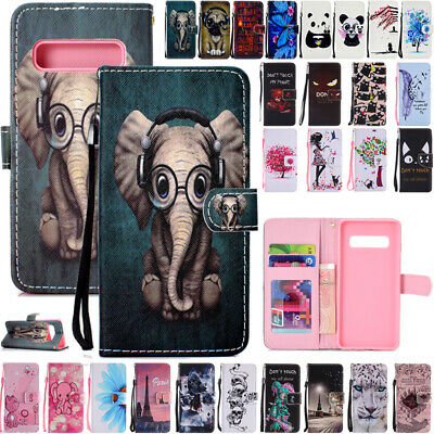 For Samsung Galaxy S10Plus S9+ J2 J5 J8 Flip Leather Wallet Patterned Case Cover