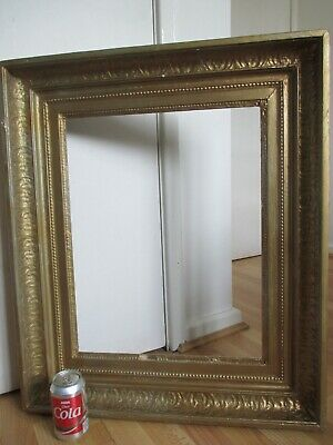 Large Ornate Antique 19th Century Gilt Gesso Frame for Picture Painting Portrait