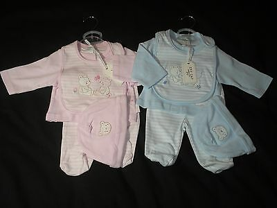 Baby boy girl Clothes Jacket Hat trouser Boy Girl Blue Pink cotton 3 - 9 months