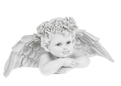 Memorial Cherub with LED Lights Grave Remembrance Ornament Gift