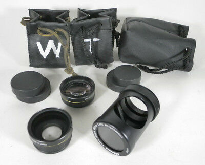 Promaster Wide Angle, Telephoto and 90 degree adapter lenses