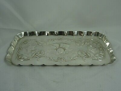 ATTRACTIVE solid silver DRESSING TABLE TRAY, 1904, 139gm