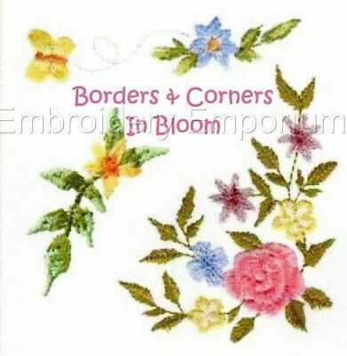 Borders & Corners In Bloom Collection - Machine Embroidery Designs On Cd Or Usb