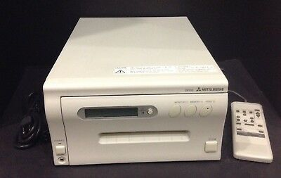 Mitsubishi Cp700Um  Video Color Medical Printer Remote Works Perfectly Warranty