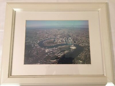 Framed Aerial Photograph Of The Isle Of Dogs And London Beyond