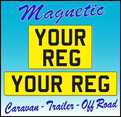 Magnetic Number Plate Trailer Caravan yellow reflective Best Quality