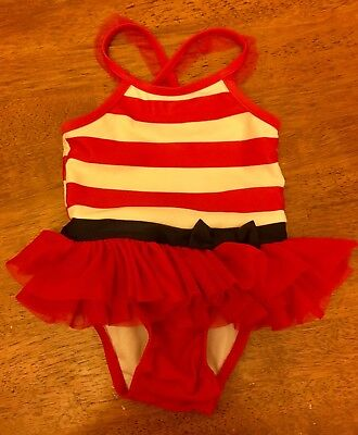 65950eacead1 Baby Girls' Stripe One Piece Swimsuit Bathing Suit Cat & Jack Red 12 Months