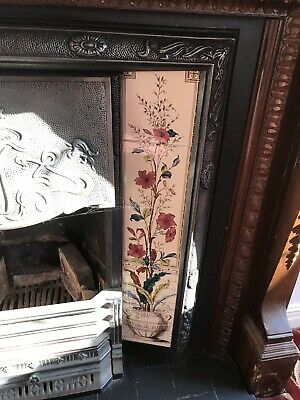 Victorian Cast Iron Fireplace With Wooden Surround And Tiles
